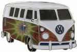 VW Starburst Campervan Officially Licensed Belt Buckle with display stand and presentation box. Code VWVAN02
